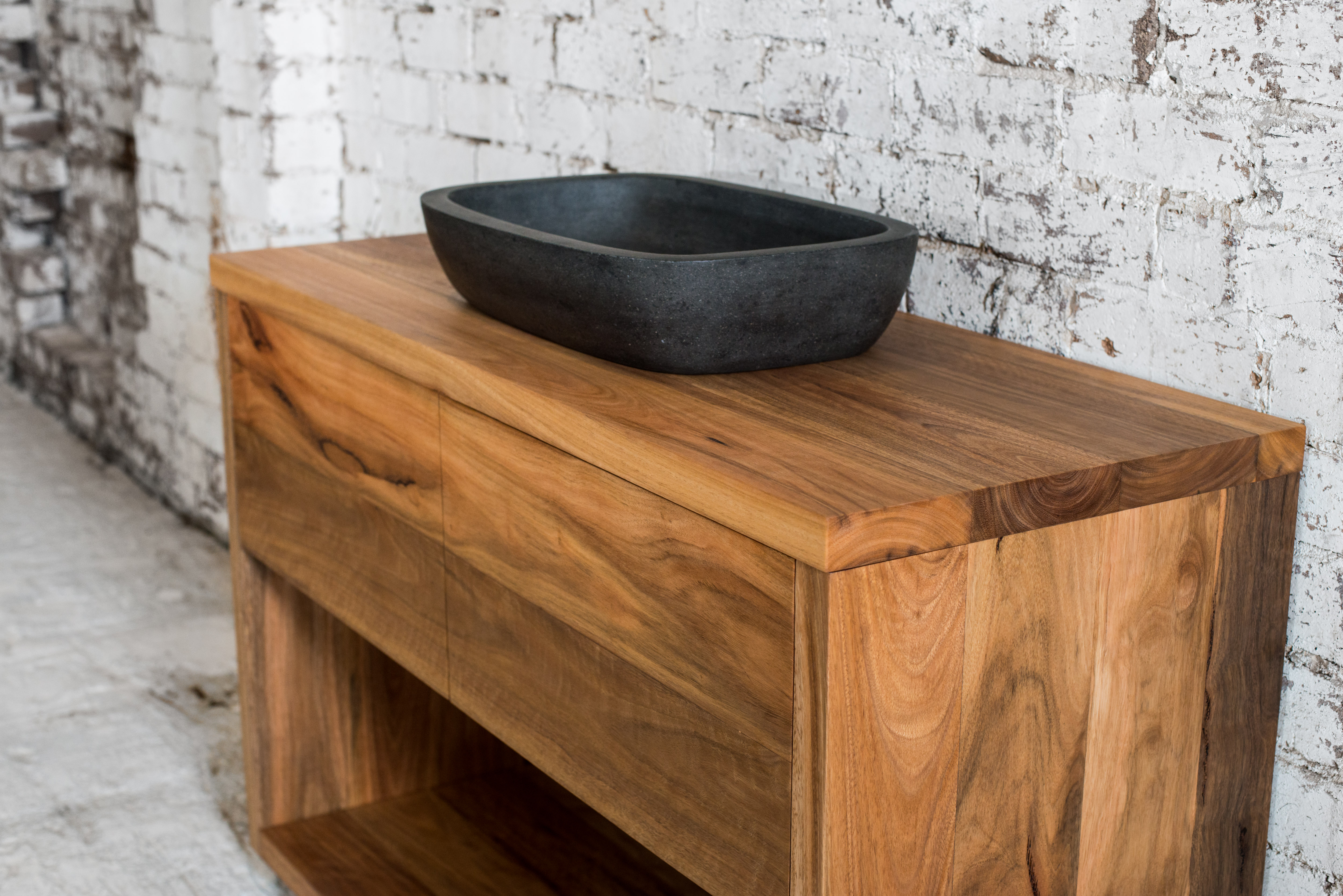 Coopers Store Bespoke Timber Vanities Micah Vanity Spotted Gum